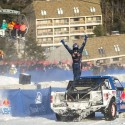 Bryce Menzies celebrates after winning the finals at Red Bull Frozen Rush at Sunday River in Newry, Maine, USA on 09 January 2015. // Garth Milan/Red Bull Content Pool // P-20150110-00066 // Usage for editorial use only // Please go to www.redbullcontentpool.com for further information. //