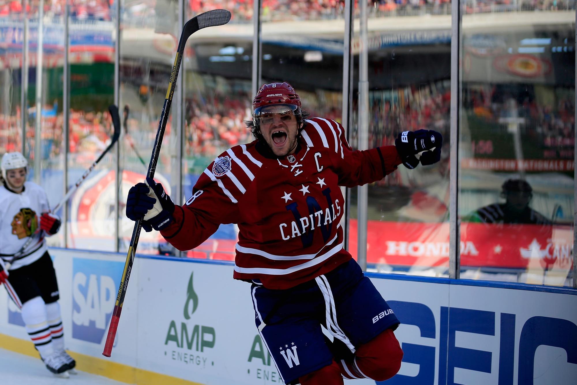 a357a21615d86e WASHINGTON, DC - JANUARY 01: Alex Ovechkin #8 of the Washington Capitals  celebrates
