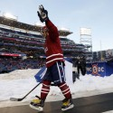 Jan 1, 2015; Washington, DC, USA; Washington Capitals left wing Alex Ovechkin (8) waves to the crowd after the 2015 Winter Classic hockey game against the Chicago Blackhawks at Nationals Park. Mandatory Credit: Geoff Burke-USA TODAY Sports