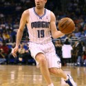 Apr 10, 2013; Orlando, FL, USA; Orlando Magic point guard Beno Udrih (19) passes the ball during the fourth quarter at Amway Center. Orlando defeated Milwaukee 113-103 in overtime. Mandatory Credit: Douglas Jones-USA TODAY Sports