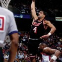 EAST RUTHERFORD, NJ - 1988:  Rony Seikaly #4 of the Miami heat elevates for a dunk during a game against the New Jersey Nets in 1988 at Brendan Byrne Arena in East Rutherford, New Jersey.  NOTE TO USER: User expressly acknowledges that, by downloading and or using this photograph, User is consenting to the terms and conditions of the Getty Images License agreement. Mandatory Copyright Notice: Copyright 1988 NBAE (Photo by Lou Capozzola/NBAE via Getty Images)