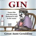 thumbs gin mascot