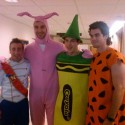 thumbs brad marchad and bruins in costume