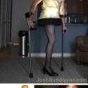 thumbs paralympian josh sundqust leg lamp halloween costume 2012