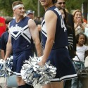 thumbs yankees rookies as cheerleaders