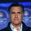 El republicano Mitt Romney, ex gobernador de Massachusetts y que compite en el proceso interno del partido para designar al candidato presidencial, toma una pausa mientras habla ante un grupo de ex integrantes del comité olímpico de Salt Lake City, en el 10mo aniversario de los Juegos Olímpicos en Salt Lake City, Utah, el sábado 18 de febrero de 2012. (Foto AP/Gerald Herbert)
