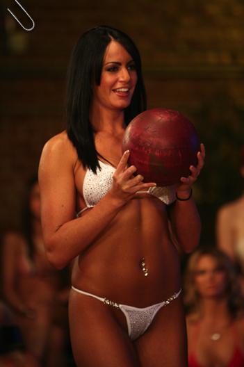 Sexy women bowling