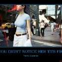 thumbs if you didnt notice her tits first cubby demotivational poster 1222101194