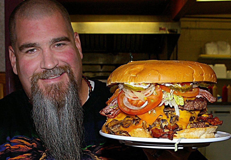disturbingly large hamburgers