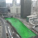 thumbs chicago river green dye st patricks day 10