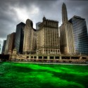 thumbs chicago river green dye st patricks day 12