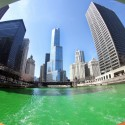 thumbs chicago river green dye st patricks day 13