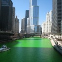 thumbs chicago river green dye st patricks day 16