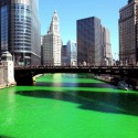 thumbs chicago river green dye st patricks day 20