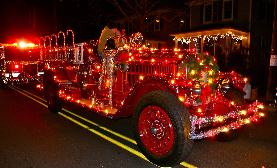 7 best Decked out Fire Trucks images on Pinterest | Christmas ...