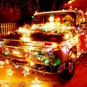 thumbs christmas lights truck 34