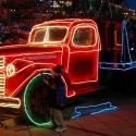 thumbs christmas lights truck 40
