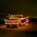 thumbs christmas lights truck 45