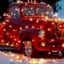 thumbs christmas lights truck 47