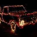 thumbs christmas lights truck 54