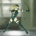 thumbs female green arrow