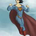 thumbs female superman