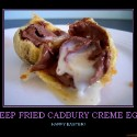 thumbs deep fried cadbury creme egg candy demotivational poster 1239564266