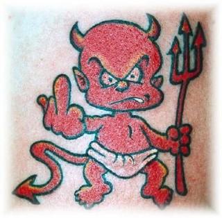 a gallery of devil tattoos. Black Bedroom Furniture Sets. Home Design Ideas