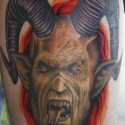 thumbs Goat head devil tattoo