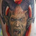 thumbs Goat head devil tattoo