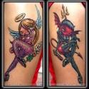 thumbs angel+devil+tattoo