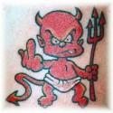 thumbs devil 2dtattoo 2ddesign small