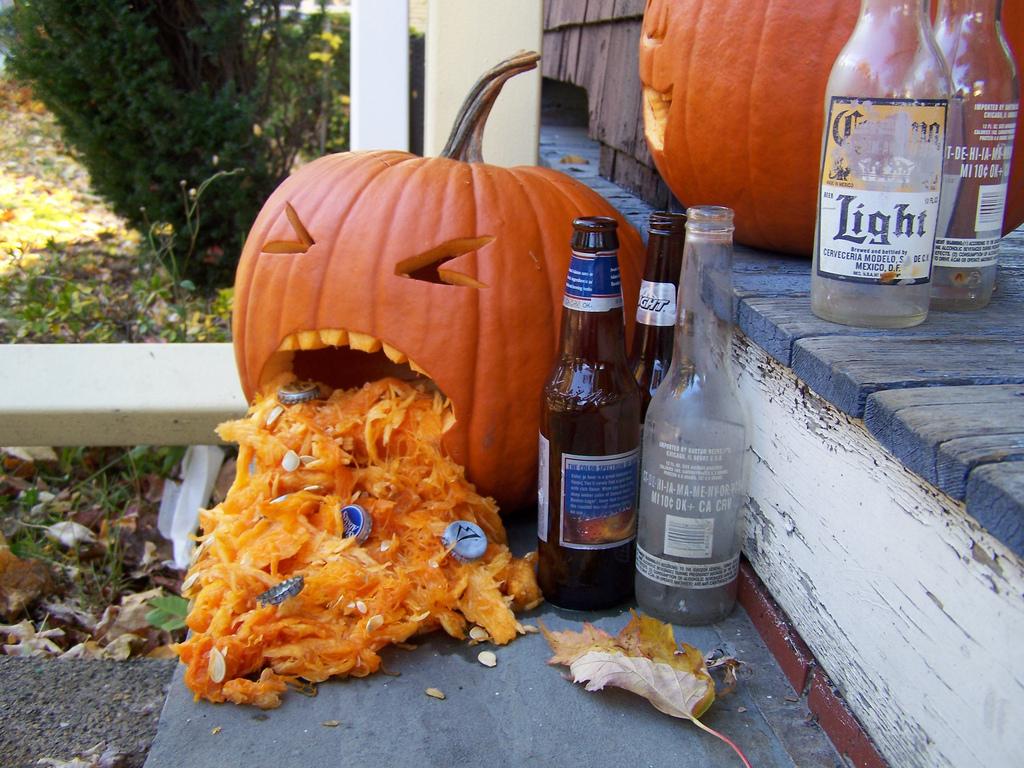 drunk pumpkins alcoholic pumpkin carving