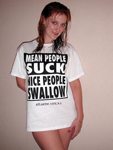 Funny Messages on Girls T-shirt