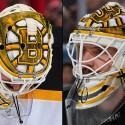 thumbs boston bruins jonas gustavsson goalie mask