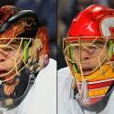 thumbs calgary flames jonas hiller goalie mask
