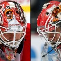 thumbs carolina hurricanes eddie lack goalie mask