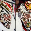 thumbs chicago blackhawks scott darling goalie mask