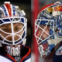 thumbs columbus blue jackets sergei bobrovsky goalie mask