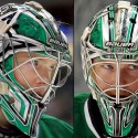 thumbs dallas stars kari lehtonen goalie mask