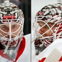 thumbs detroit red wings jimmy howard goalie mask