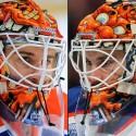 thumbs edmonton oilers cam talbot goalie mask