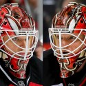 thumbs new jersey devils cory schneider goalie mask