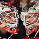 thumbs new jersey devils keith kinkaid goalie mask