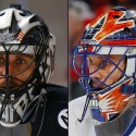 thumbs new york islanders jaroslav halak goalie mask