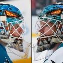 thumbs san jose sharks james reimer goalie mask