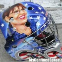 thumbs sarah palin goalie mask
