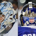thumbs toronto maple leafs garret sparks goalie mask