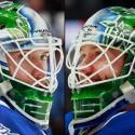 thumbs vancouver canucks jacob markstrom goalie mask