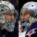 thumbs winnipeg jets connor hellebuyck goalie mask